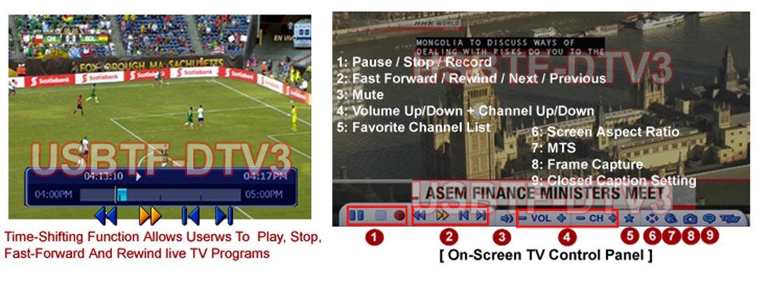 USB Digital HD TV Tuner/Terrestrial Receiver + MPEG DVR Adapter For PC