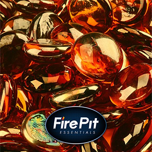 Cheap 1/2 Fire Glass Beads for Indoor or Outdoor Fire Pits or Fireplace (High Desert Semi Reflective)