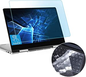 """AntiBlueLight Glare Screen Protector Fit Dell Inspiron 13 2-in-1 7391-13.3"""" Gift Keyboard Cover Touchscreen Eyes Protection Filter Reduces Eye Strain Help You Sleep Better Anti Fingerprint"""