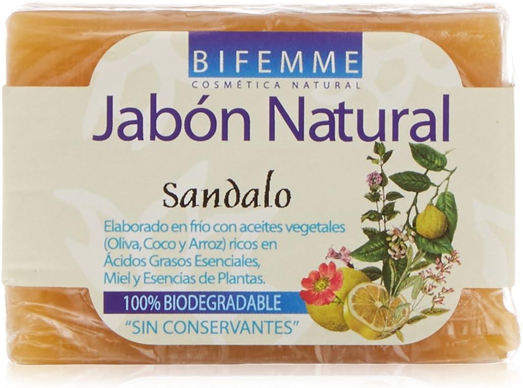 Bifemme Jabón de sándalo - 100 gr: Amazon.es: Belleza