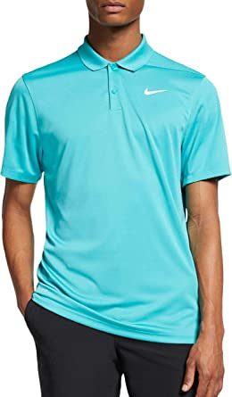 Nike Mens Dry Victory Polo Solid Left Chest, Cabana/White, Small ...