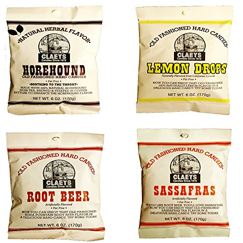 Claeys Old Fashioned Hard Candy - Variety 4 Pack - Horeho...