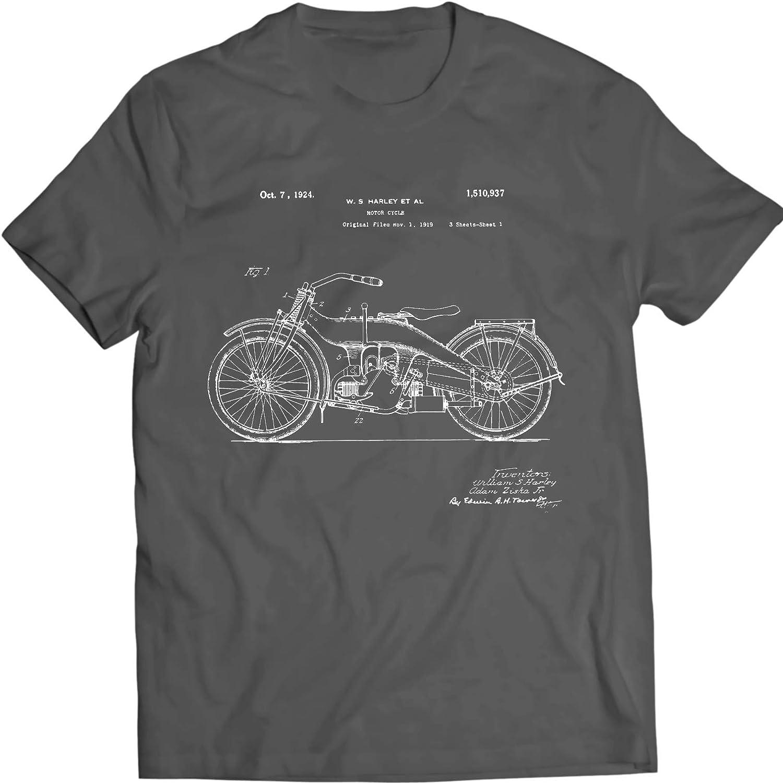 Harley Davidson Patentarar Camiseta, Motocicleta Patentarar tee: Amazon.es: Ropa y accesorios