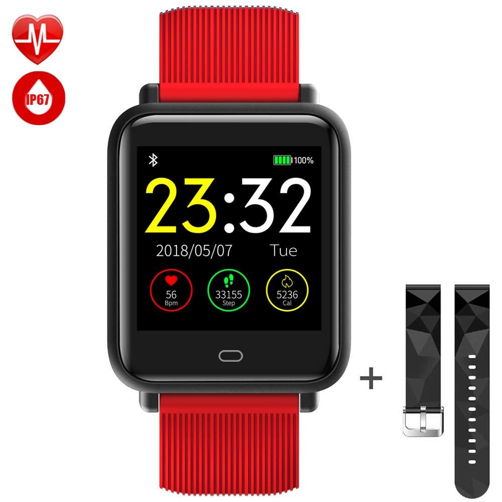 TagoBee TB08 IP67 Reloj Smartwatch Desbloqueado Fitness Tracker Monitorización de la presión Arterial Notificaciones de Recordar