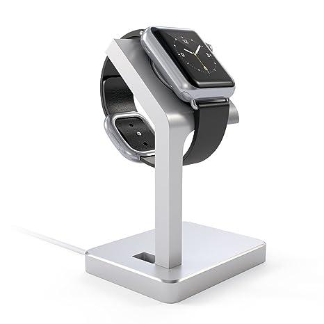 SATECHI Base de Carga de Aluminio Compatible con Relojes Inteligentes (Plata)