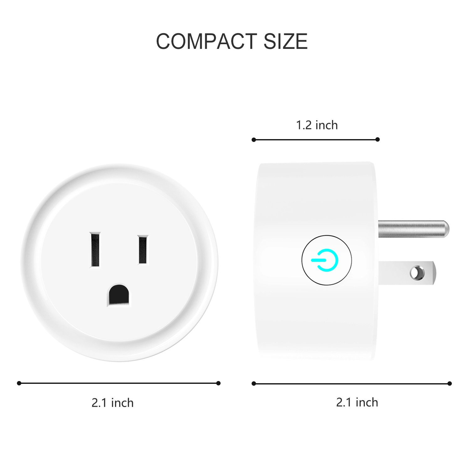 Smart Plug Works with Amazon Alexa/Google Home/IFTTT, No Hub Required Wifi Enabled Smart Outlet 4 Pack by Luntak (Image #3)