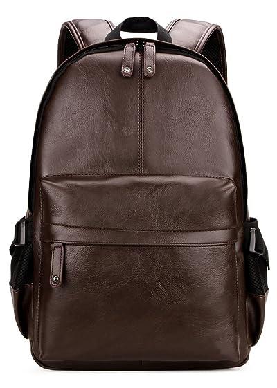 Kenox Vintage PU Leather Backpack School College Bookbag Laptop Computer Backpack
