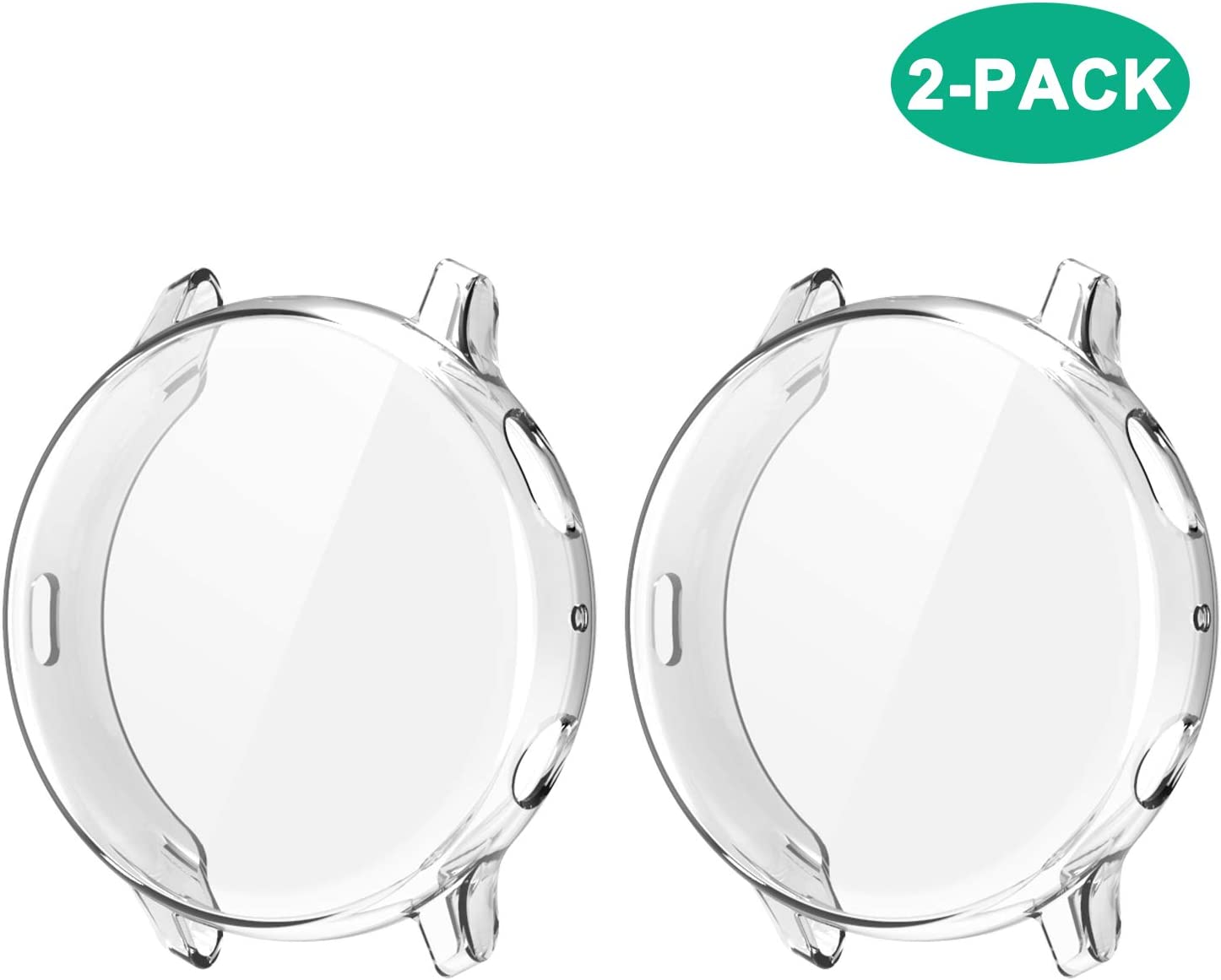 Compatible with Galaxy Watch Active 2 Case 44mm, 2 Pack Full Coverage TPU Anti-Scratch Screen Protector Case Soft Protective Cover for Samsung Galaxy Active 2 44mm Smartwatch
