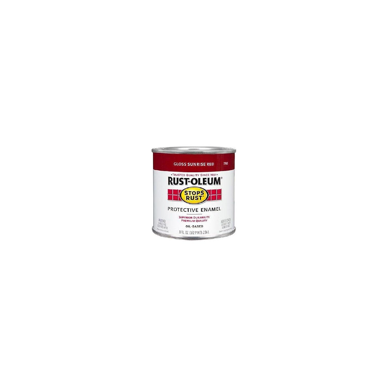 Rustoleum Stops Rust 7762-730 1/2 Pint Gloss Sunrise Red Oil