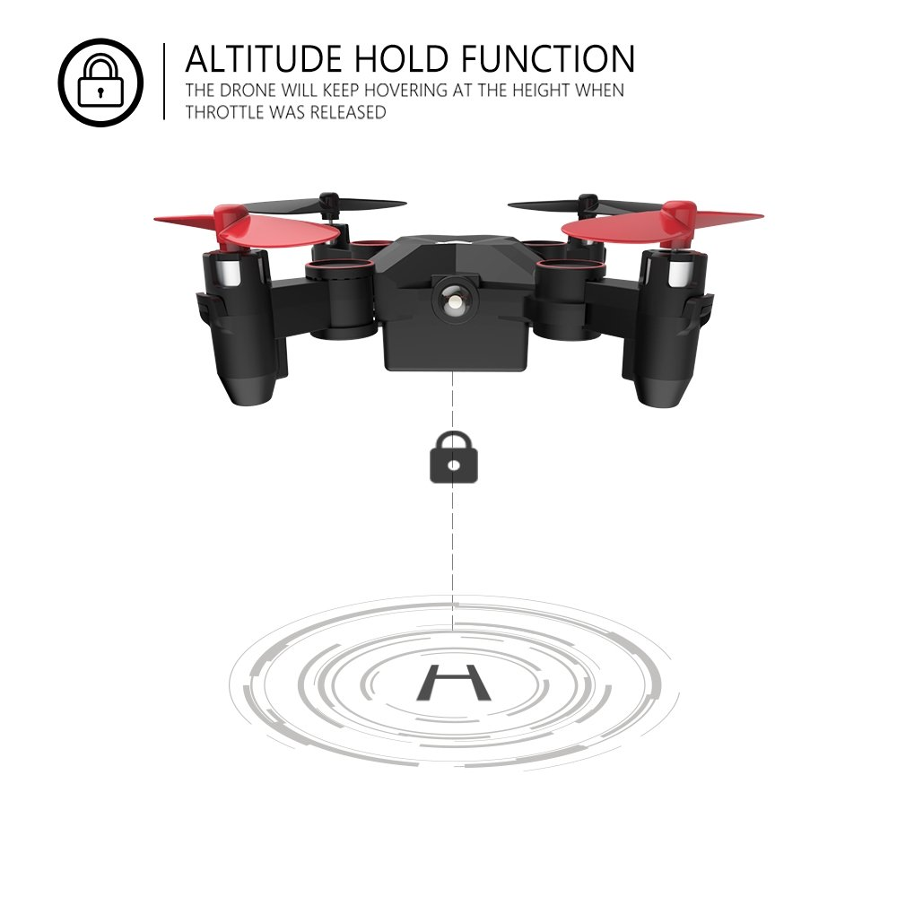 Holy Stone HS190 Foldable Mini Nano RC Drone for Kids Gift Portable Pocket Quadcopter with Altitude Hold 3D Flips and Headless Mode Easy to Fly for Beginners by Holy Stone (Image #5)