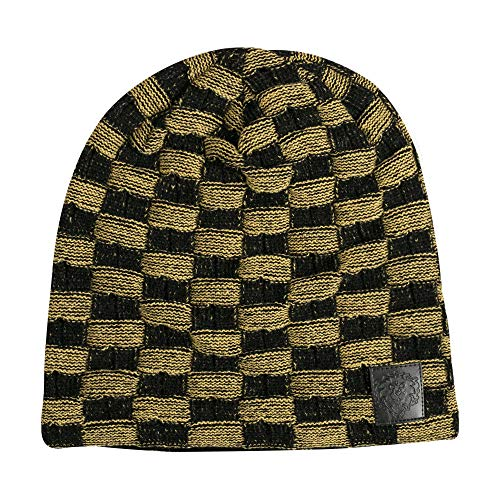 JINX World of Warcraft Alliance Two-Tone Slouchy Knit Beanie, Black/Gold, One Size