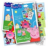 Peppa Pig On the Go Coloring Pouch Activity Set With Stickers - Coloring Pages - and Coloring Wheel - Also Included Is 1 Large Coloring Fun Sticker