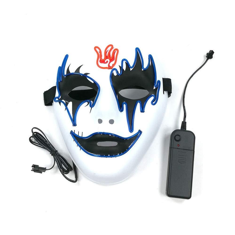 YUYOUG 2018 Halloween Mask Led Funny Festival Party Cosplay LED Light Up Mask Halloween Night Mask Full Face Colorful LED Masks Dance Rave Glow Scary Mask Light Up Cosplay Mask