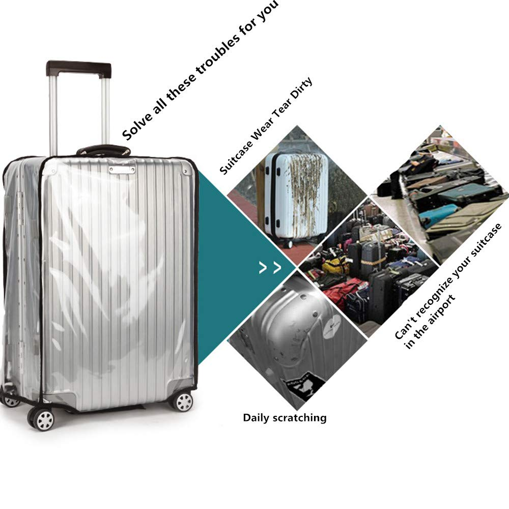 GigabitBest Luggage Protector Covers Suitcase Cover Protector PVC Luggage Case
