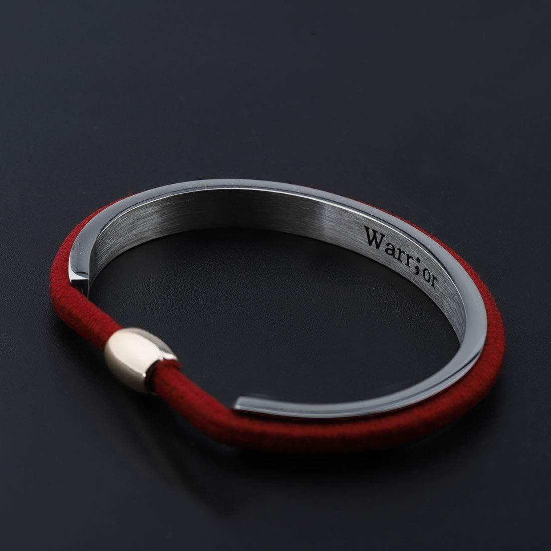 Zuo Bao Semicolon Jewelry Hair Tie Bracelet Fighter Semicolon Cuff Bracelet Depression Awareness Semicolon Bracelet