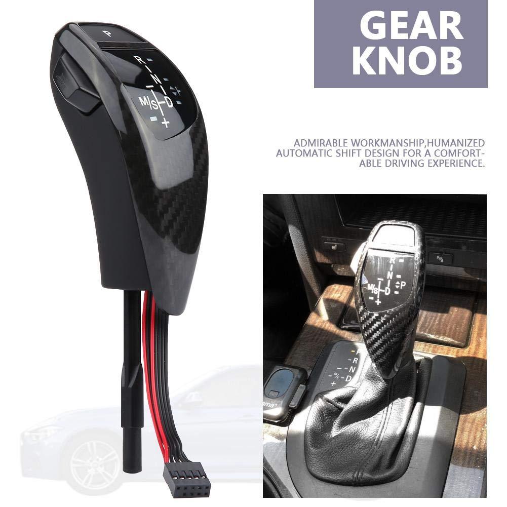 Acouto Car LED Shift Knob,Automatic LED Gear Shift Knob Left Hand Drive Manual Shifter Knob for BMW E90 E91 E93 E81 E82 E84 E87 E88 E89 Chrome Black