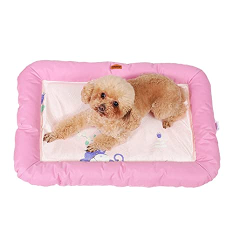 DaoRier Tela Alfombra Casa para Mascotas Cama de Perro Gato Puppy Conejo Mascota Antideslizante Plegable Suave