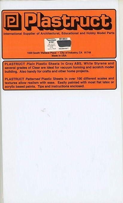 Amazon.com: Plastruct - Hojas de plástico de estireno de ...