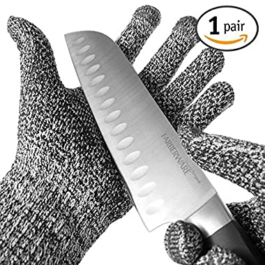 TYH Supplies Cut Resistant Safety Gloves High Performance Level 5 Protection EN388 Food Grade Silicone Grip Dots Capacitive Touch Finger Tips