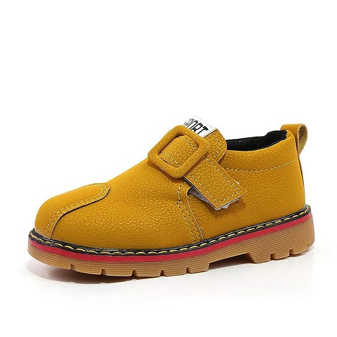 SMILINGGIRL Botines Para Niños: Suela De Buey CÓModa, Antideslizante Y Resistente Al Desgaste- Zapatos De Cuero Mate Vintage Personalizados - Con ...