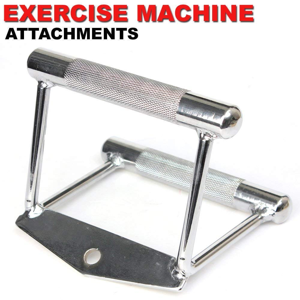 FITNESS MANIAC Home Gym Cable Attachment Handle Machine Exercise Chrome PressDown Strength Training Home Gym Attachments 30 inch Curl Bar Set (7 Pieces Set) by FITNESS MANIAC (Image #5)