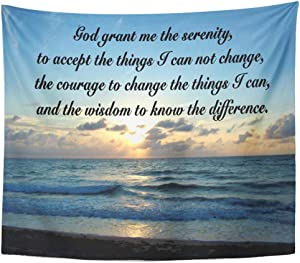 Semtomn Tapestry Artwork Wall Hanging Beautiful Serenity Ocean Grant The Recovery Let 50x60 Inches Home Decor Tapestries Mattress Tablecloth Curtain Print