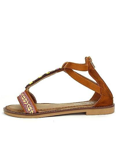 Cendriyon Sandales Marron Chaussures Femme Marron - Chaussures Sandale Femme
