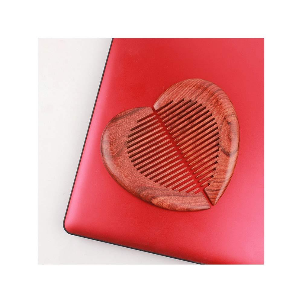 MKQLT Leaflet red sandalwood comb 2pcs/set wedding gift couple loves wood comb set