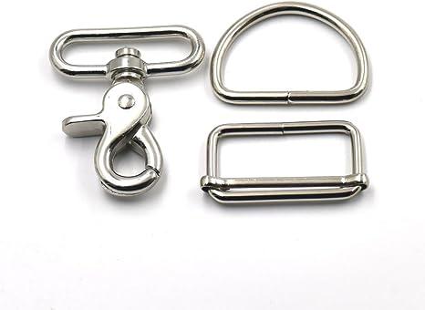 """Webbing Cam Buckles Metal Toggle Clip Backpack Straps Black 38mm 1.5/"""""""
