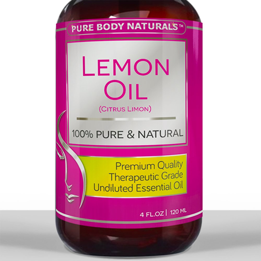 BEST LEMON OIL ★ HUGE 4 Oz ★ 100% Pure Cold Pressed from Real Lemons
