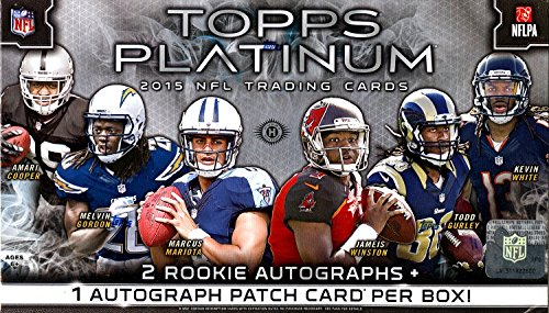 2015 Topps Platinum Football Hobby Box (20 Pack (Platinum Hobby Box)