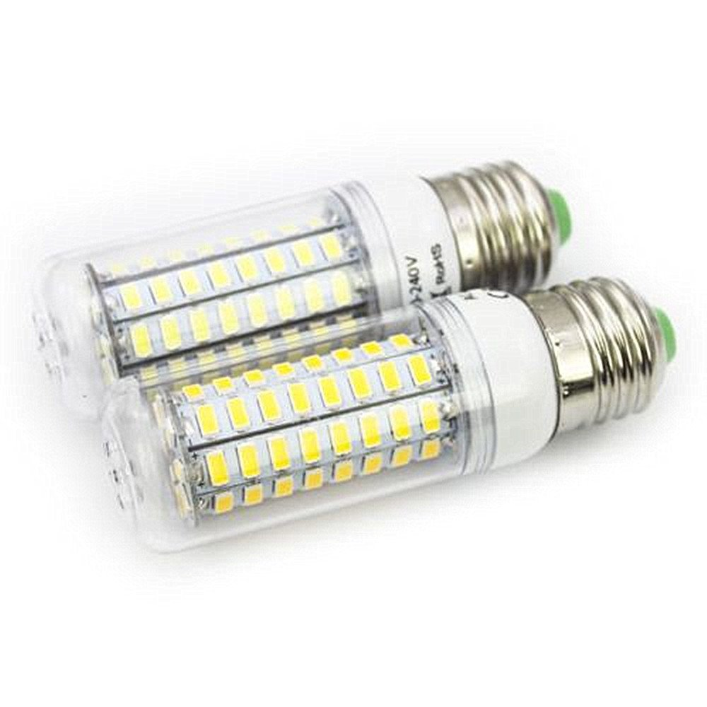 2PACK E27 72LEDs 15W SMD5730 AC:85-265V LED Corn lamp LED Light Bulb (Warmes Weiß, E27) kemxi tech
