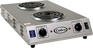 Cadco CDR-1TFB Space Saver Double 120-Volt Hot Plate