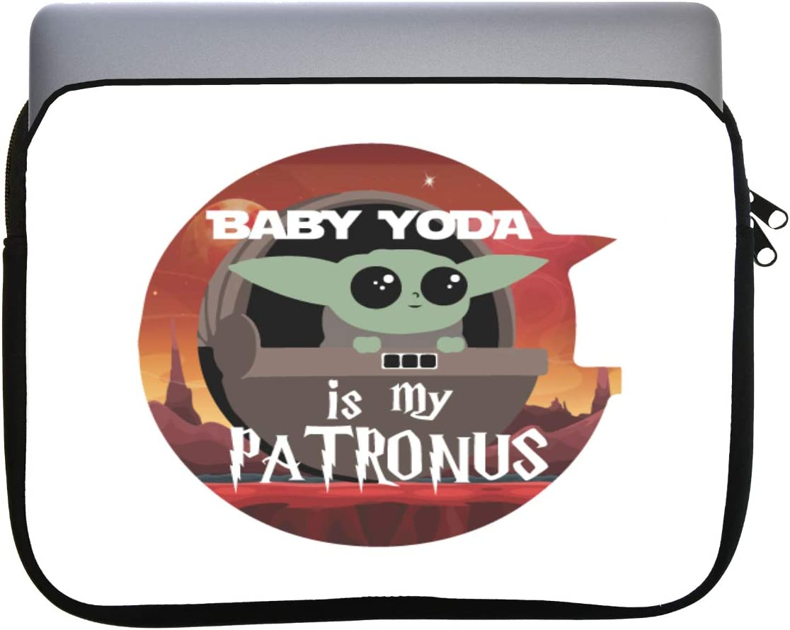 Baby is My Patronus 11x14 inch Neoprene Zippered Laptop Sleeve Bag by M&R for MacBook or Any Other Laptop