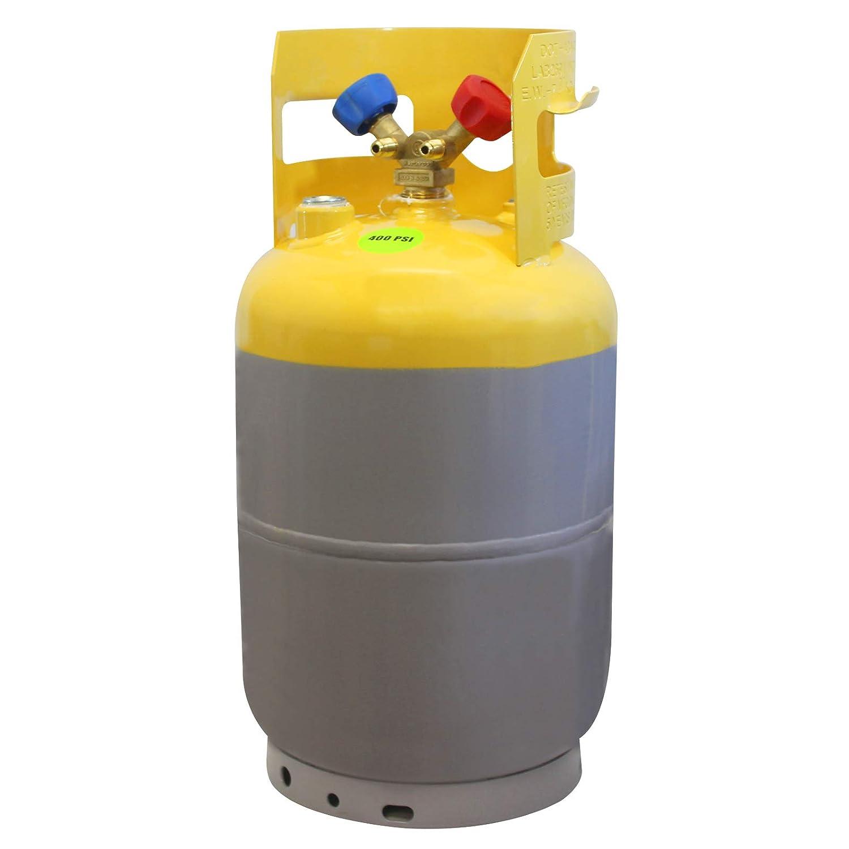Mastercool (62010) Gray/Yellow Refrigerant Recovery Tank - 30 lb. Capacity