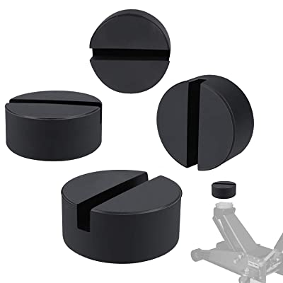 Sunluway 4 Pack Universal Rubber Slotted Frame Jack Pad Standard Size Protector Pinch Weld Protector: Automotive