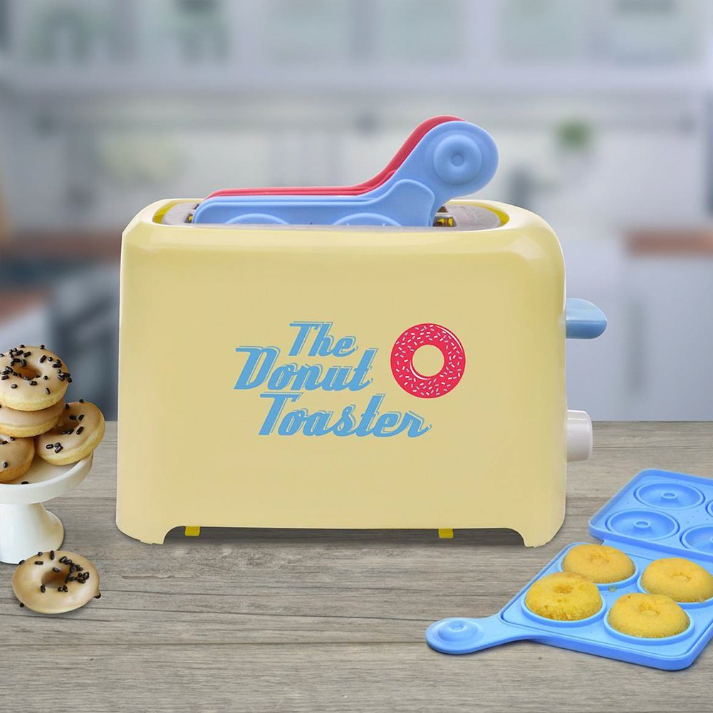Donut Toaster - Makes 8 Breakfast Treats Each Time w/Your Favorite Cake Mix by Smart Planet (Image #2)