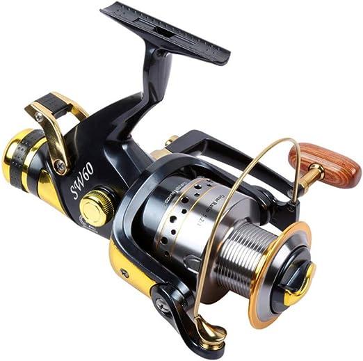 Vobajf Carretes Spinning Cabeza de Metal Carrete de Pesca Rueda Delantera y Trasera de Pesca Que Lanza el Freno Carrete para Agua Salada o Agua Dulce. (tamaño : 6000): Amazon.es: Hogar