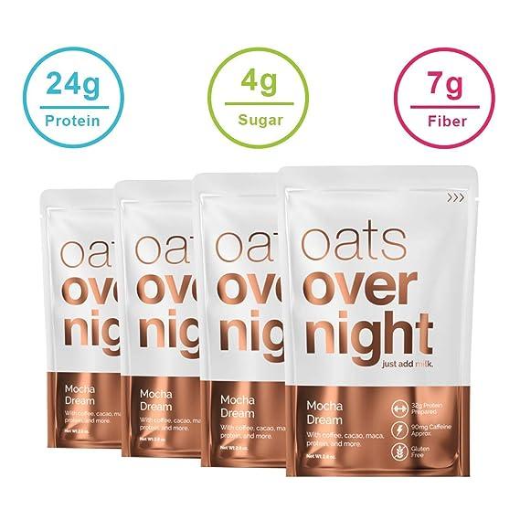 Oats Overnight Mocha Sueño (2.8oz por paquete)-alta en proteínas ...