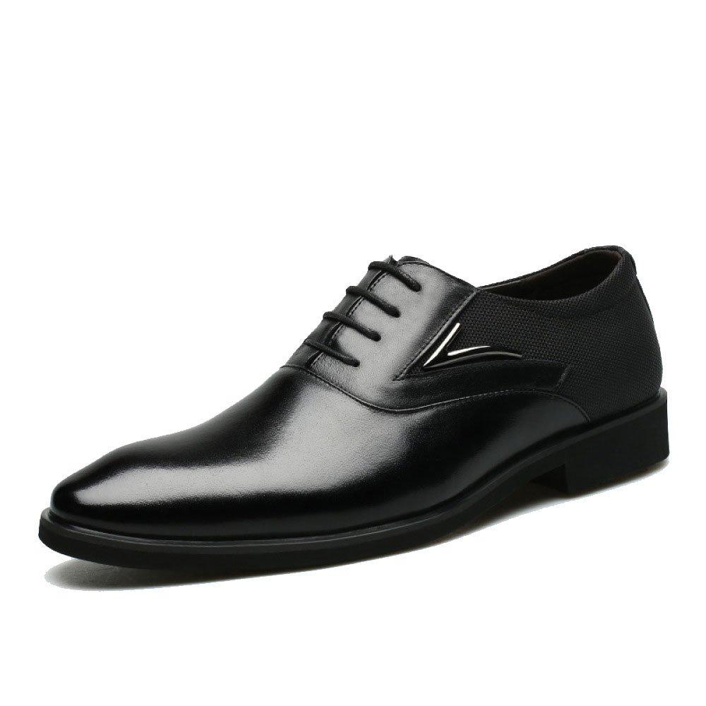 LEDLFIE Herren Lederschuh Geschäft Herrenschuhe Herrenschuhe Geschäft Kleid Lederschuhe schwarz 41d433