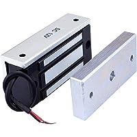 AUTENS Electric Magnetic Door Lock 12V 60kg Mini DC EM Locks Holding Force Electromagnetic for Door Entry Access Control