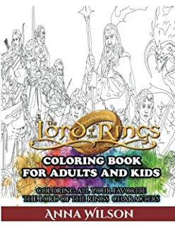 the lord of the rings coloring book for adults and kids coloring all your favorite - Lord Of The Rings Coloring Book