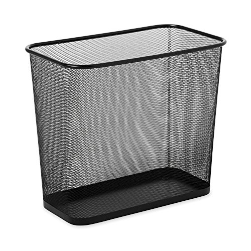 Rubbermaid Commercial FGWMB30RBK Concept Collection Steel Mesh Open-Top Waste Basket, 7.5-gallon, Black