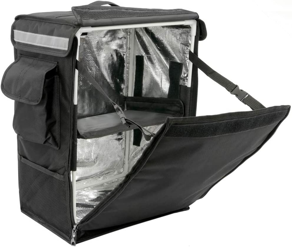 CityBAG - Mochila isotérmica 35 x 49 x 25 cm Negra para Entrega de Pedidos de Comida en Moto y Bicicleta