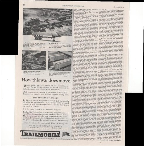 Trailmobile Commercial Trailers For War And Peace Move 1944 WWII Advertisement