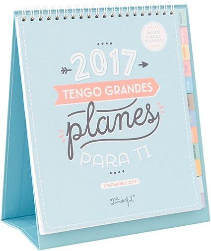 Mr. Wonderful WOA03740ES - Calendario 2017, color verde menta ...