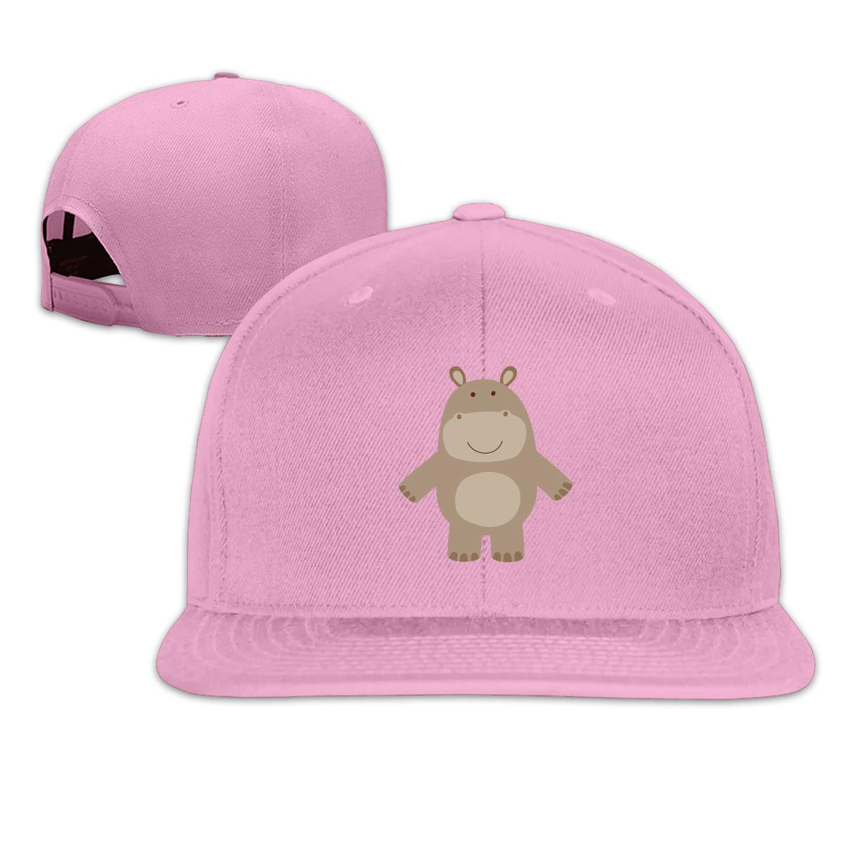 MOCSTONE Unisex Snapback Hat Cute Hippo Adjustable Baseball Cap
