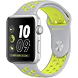 Apple Watch Nike+ 42mm Smart Watch (Silver Aluminum Case Silver, Volt Nike Sport Band)