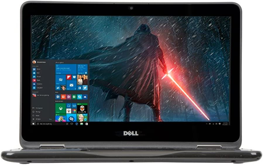 "2018 Newest Dell Lightweight Inspiron 11.6"" Touchscreen 2 in 1 Laptop PC AMD A6-9220e Processor 4GB DDR4 RAM 32GB eMMC SSD Hard Drive Radeon R4 Graphics Wifi Webcam Bluetooth 3.2 Lbs Windows 10-Gray"