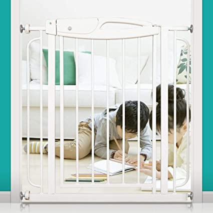 QIANDA Barrera Seguridad Niños Protector Escaleras Bebe con Puerta De Acceso Sin Taladrar Aislamiento Ideal for Niños Y Mascotas, con Extensiones hasta 155cm (Size : 109-125cm): Amazon.es: Hogar